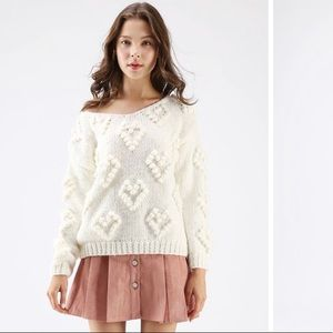 Chic Wish Knit Your Love Hand-knit V-neck Sweater
